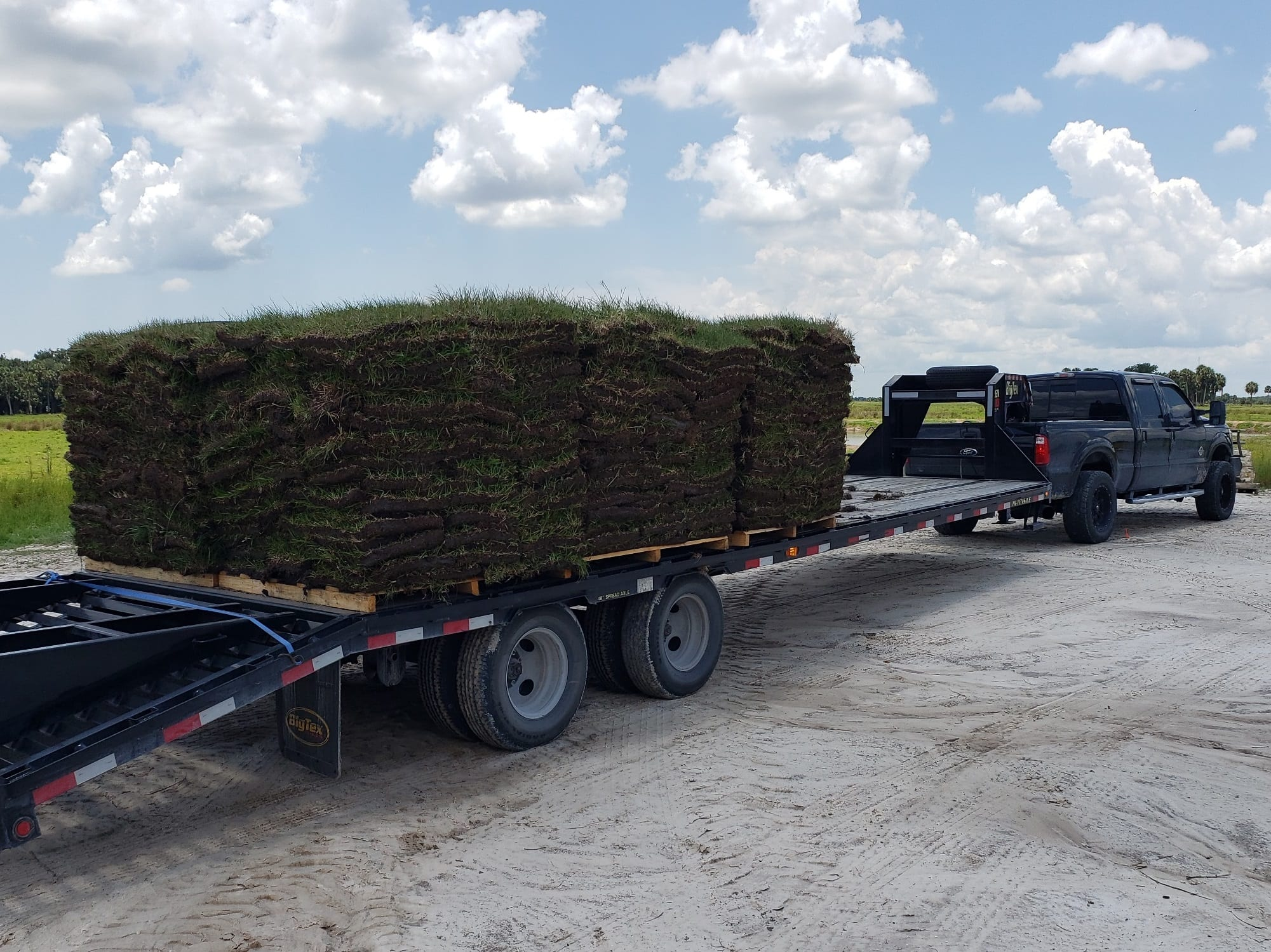 Sod Hauling $3 per loaded mile